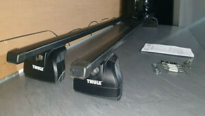 GENUINE THULE MAZDA CX-7 5DOOR SUV SQUARE ROOF BARS RACK FIXED POINTS 2007-2012