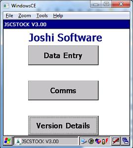 JSCStock Stock Management Software for MC3090/MC3190/MC32N0 Mobile Computer