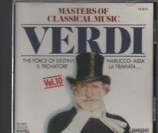 masters Of classical Music - Verdi Vol 10   [Cd] force of destiny,il trovatore