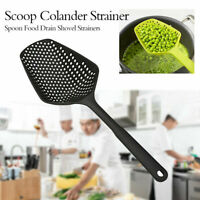 Colander Spoon Strain Cooked Food Drainer Pasta Vegetable Rice Strainer Plastic