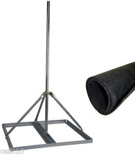 "Non-Penetrating Antenna Roof Mount w/ 1.25"" x 60"" Mast + Roof Mat - EZ NP-60-125"