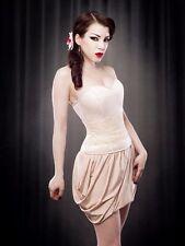 Kiss Me Deadly Vanilla Demi Corset L BNWT