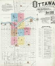 Ottawa, Kansas~Sanborn Map© sheets~ with 57 maps on a Cd in color