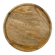 Holz Tablett rund massiv Deko Brett natürlich Heimdeko Wohnaccessoires braun