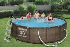 Bestway 56709 Steel Pro Deluxe 12 Feet Pool with Filter Pump and accessories