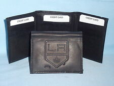 LOS ANGELES KINGS    Leather TriFold Wallet    NEW    black 3  m1