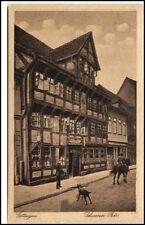 GÖTTINGEN um 1920 Mann mit Hund Pferd u. Reiter am Gasthaus Schwarzer Bär AK