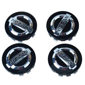 "NEW 4-Piece Set 2-1/8"" Black Wheel Center Cap Fit for Nissan Altima Rogue"