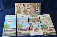 Vtg 1960s SINCLAIR Auto Touring Brochure & 4 Maps(Iowa, No&So Dakota,Cental/West