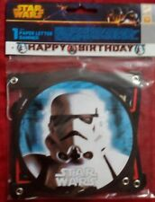 "Star Wars Girlande Papier PartyKette  ""Happy Birthday"" Gestanzte Neu&OVP Trooper"