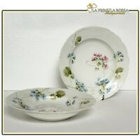 Richard Ginori coppia piatti antichi porcellana posto tavola piatto piano fondo