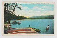 Postcard Gibson's Grove Lake Buel Boating Barrington Massachusetts