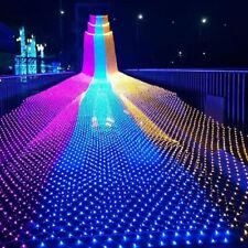 LED Net Mesh Fairy Lights Indoor Outdoor Garden Party Waterproof Decor Lamp 220V
