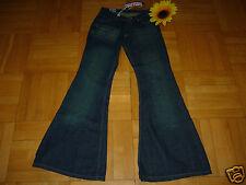 W28 L34 Bohemian Jeansschlaghose 70er Hippie Comycom dunkelblau Neu Hüftsitz