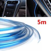 Useful Car/Truck Edge Gap Interior Line Moulding Trim Molding Strip Decor Blue