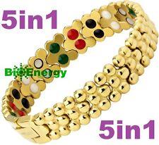 TITANIUM Magnetic Energy  Armband  Power Bracelet Health Bio 5in1 Bio