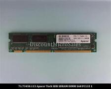 Apacer Tech 71.73450.113 SDRAM 128MB PC-133 Non ECC 133Mhz RAM Memory