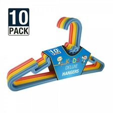 60 x Multicolore Bambini Kids Bambino Deluxe in plastica Appendiabiti Vestiti Cappotto
