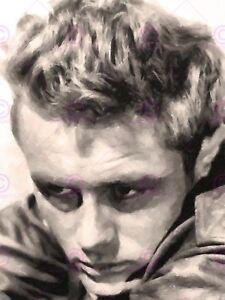 Painting Portrait Movie Film Legend Actor James Dean Canvas Art Print
