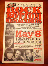 STEPHEN KING Live Rock Bottom Remainders 1998 Vintage Poster NEW 1 / 200 SEALED