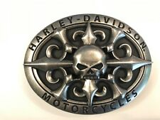 "Harley-Davidson mens ""EpicRide"" belt buckle .#HDMBU10398.Antique nickel plaited."