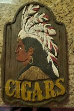 Vintage Hand-Painted Ceramic Beer Sign
