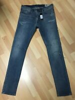 NWD MENS Diesel TEPPHAR PATCHED Stretch Denim 084VI BLUE Slim W34 L34 H6 RRP£200