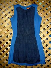 JOE FRESH Cobalt Blue & Black Designed Sleeveless Dress Size XL NEW!