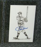 "BOB DOERR BOSTON RED SOX SIGNED 1989 TED WILLIAMS ""THE KID"" POSTCARD"