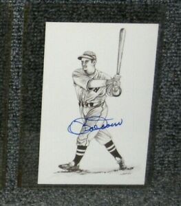 """BOB DOERR BOSTON RED SOX SIGNED 1989 TED WILLIAMS """"THE KID"""" POSTCARD"""