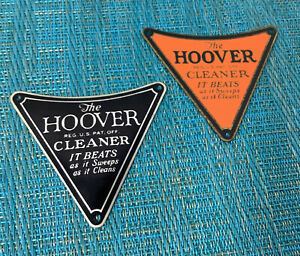 Antique Hoover 1927 Metal name plates for Hoover Vacuum Sweeper model # 700 dw2