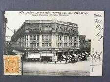 ±1905 Postcard CIUDAD DE MEXICO CITY - CALLE TLAPALEROS Y PORTAL DE MERCADERES