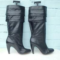 DIESEL Leather Boots Size UK 5 Eur 38 Womens Ladies Sexy Pull on Black Boots