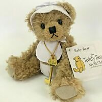 "The Teddy Bear Museum Baby Bear With Key 2002 10"" Jointed Plush Mohair Teddy"