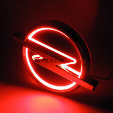 Red Auto 5D LED Car Tail Logo Light Badge Emblem Lamp For Opel 13.3cm X 10.1cm