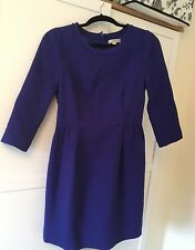 J Crew purple blue shift dress Size US 4 UK 8/10