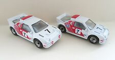 2x Matchbox Superfast 34d Ford RS200 Rally Car - Red Tampo Variations