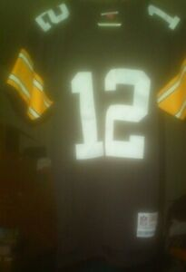 BLACK STEELERS #12 BRADSHAW NFL REPLICA COLLECTION JERSEY SIZE 36 /S (3) SPINNER