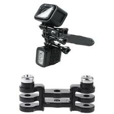 Dual Mount Holder Handle Grip Pole Adapter for GoPro Hero 3+ 4 & LED Light