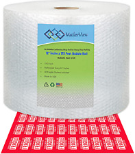 Mailerview Air Bubble Cushioning Wrap Roll 12 Inch X 175 Feet 30 Fragile Stic