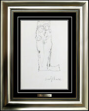 Jean Jansem Original Nude Drawing Authentic Modern Artwork Female Male Portrait
