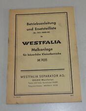 Mode D 'em Ploi + Catalogue des Pièces Melanlage M 7011 de Westfalia