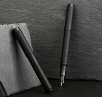 2020 Delike Metal Black Brass Fountain Pen EF/F/Bent Nib Ink Pen Original Box