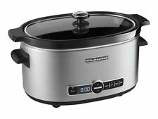 KitchenAid 6-Qt. Slow Cooker with Standard Lid - Stainless Steel Crockpot Oval