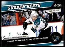 2011-12 Score Sudden Death Patrick Marleau #5