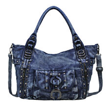 womens denim bag shoulder Bags handbag messenger travel denim jeans bag