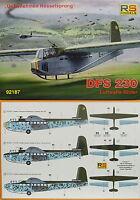 "DFS 230 Luftwaffe Lastensegler ""Rösselsprung"", RS Models, 1:72, Plastik, NEUHEIT"
