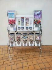 "* White A&A Northwestern 1"" and 2"" Capsule Bulk Toy Candy Vending Machine rack *"