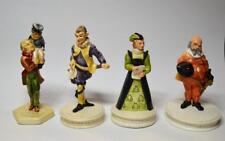 Sebastian Miniatures Bob Cratchit & Tiny Tim,Falstaff,Malvolio, Countess Olivia