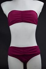 NWT! $295 Womens Burberry Brit Bikini sz L Pink Magenta bathing suit